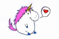 1504x869 Cute Funny Fat Cartoon Unicorns Art Picture