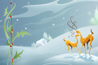Christmas collection winter happy backgrounds cute 1920x1200