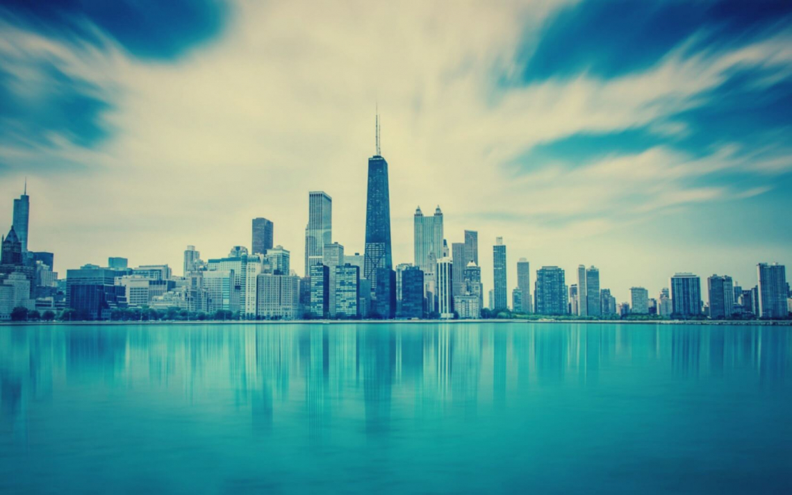 Chicago city with sea view