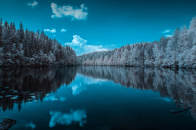 Finland forest lake