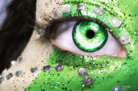 14 August independence day of Pakistan coloring face and eye