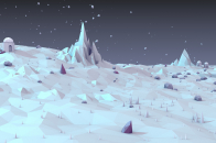 White landscape low poly