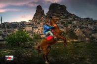 Men Riding On Horse 8k Wallpaper