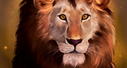 Lion, art, predator, glance, king of beasts