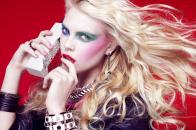 Girl like latest fashion like makeup and colorful hair