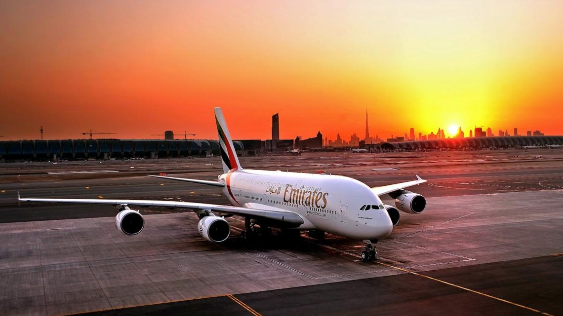 Emirates flight