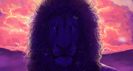 Lion, king of beasts, art, muzzle, mane, glance