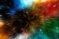 Universe galaxy multicolored