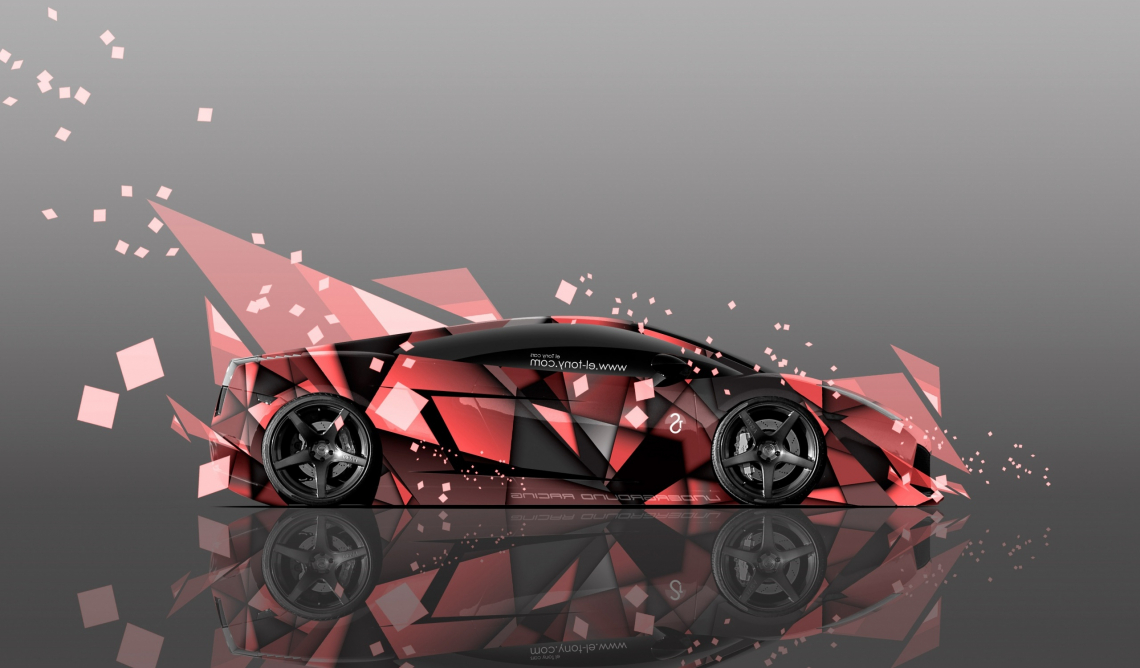 Lamborghini gallardo side abstract