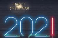 2021 happy new year 2021 fluorescent light-min
