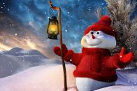 Cute Snowman Winter for 1600x1200
