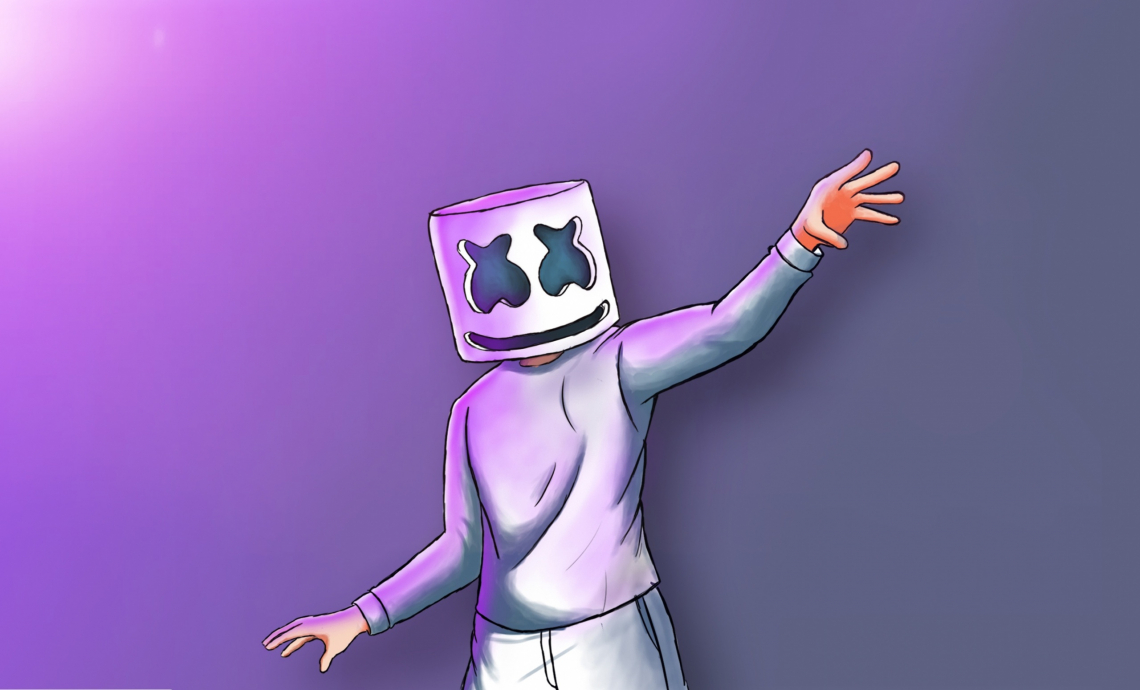 Marshmello digital painting