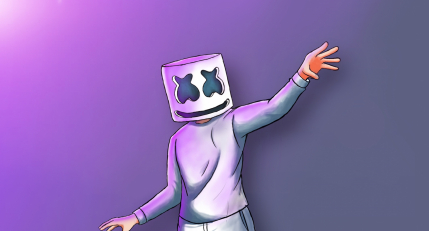 Marshmello digital painting