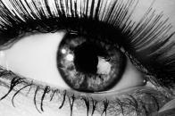 Eye, black, and, white