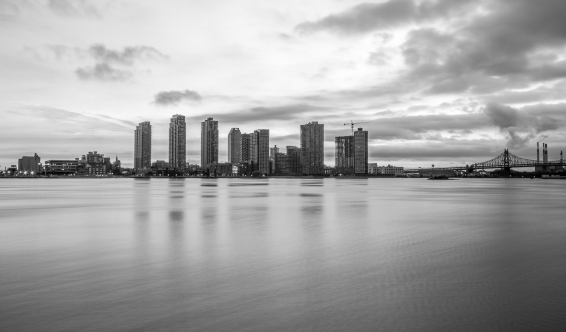 Long, island, city, black, and, white