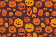 Halloween, pumpkins, pattern