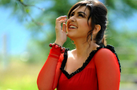 Indian Bollywood Celebrity, Red Dress