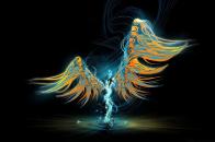 Cool Angel Abstract 1080p desktop wallpaper