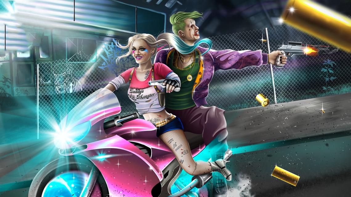 Harley quinn and joker 4k v3