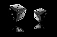 Black and White 3D abstract desktop background