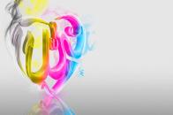 3D Colourful ALLAH name HD Wallpaper