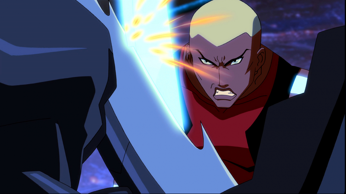 Young Justice hero fight for villain