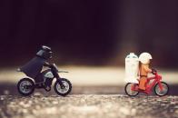 Bike chase