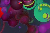UHD circle colour 3d abstract iphone 6 wallpaper
