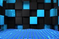 Nexus 1080p Desktop Abstract Black and Blue Background