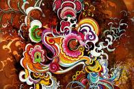 Portrait HD Colorful Flowers PC Desktop Wallpaper