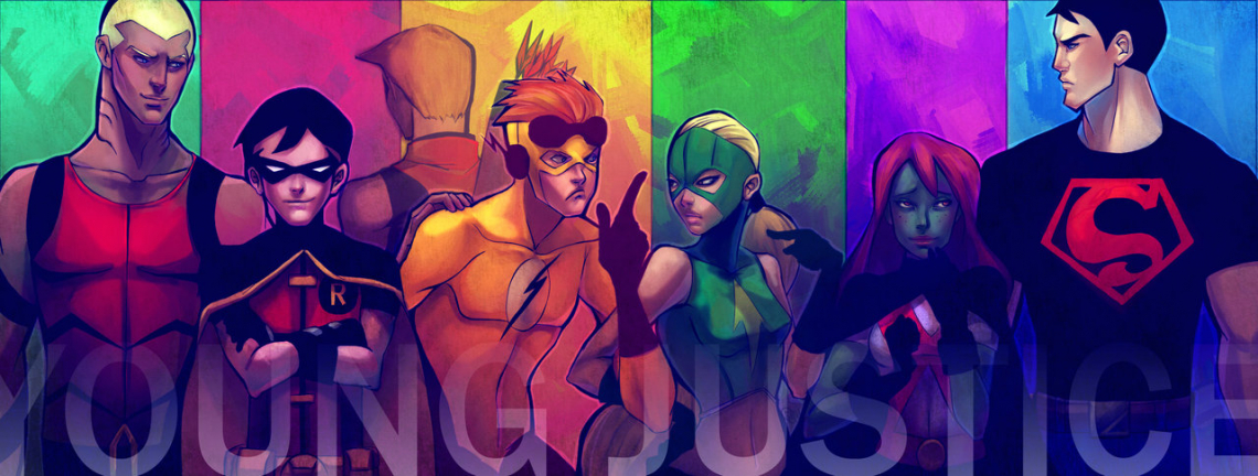 Young Justice cartoon poster