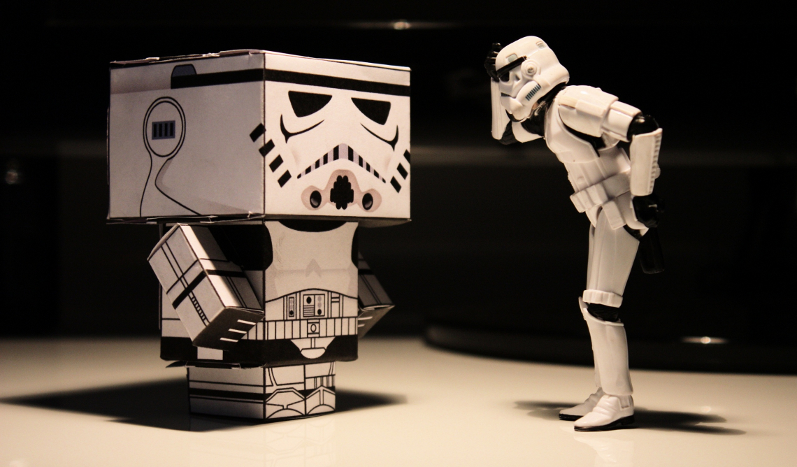 Funny stormtrooper