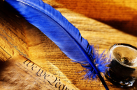 Blue Feather Background Pic