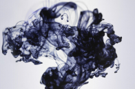Black Color Sweeping In Water 8k Wide Wallpaper