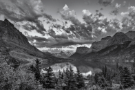 Glacier, national, park, montana, black