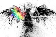 4k pink floyd, bird, graphics, spray, colors