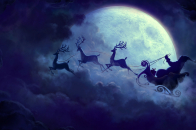Santa, in, his, sleigh