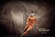 Cristiano Ronaldo, Football Player, Real Madrid, Jersey, King, Orange  Jersey