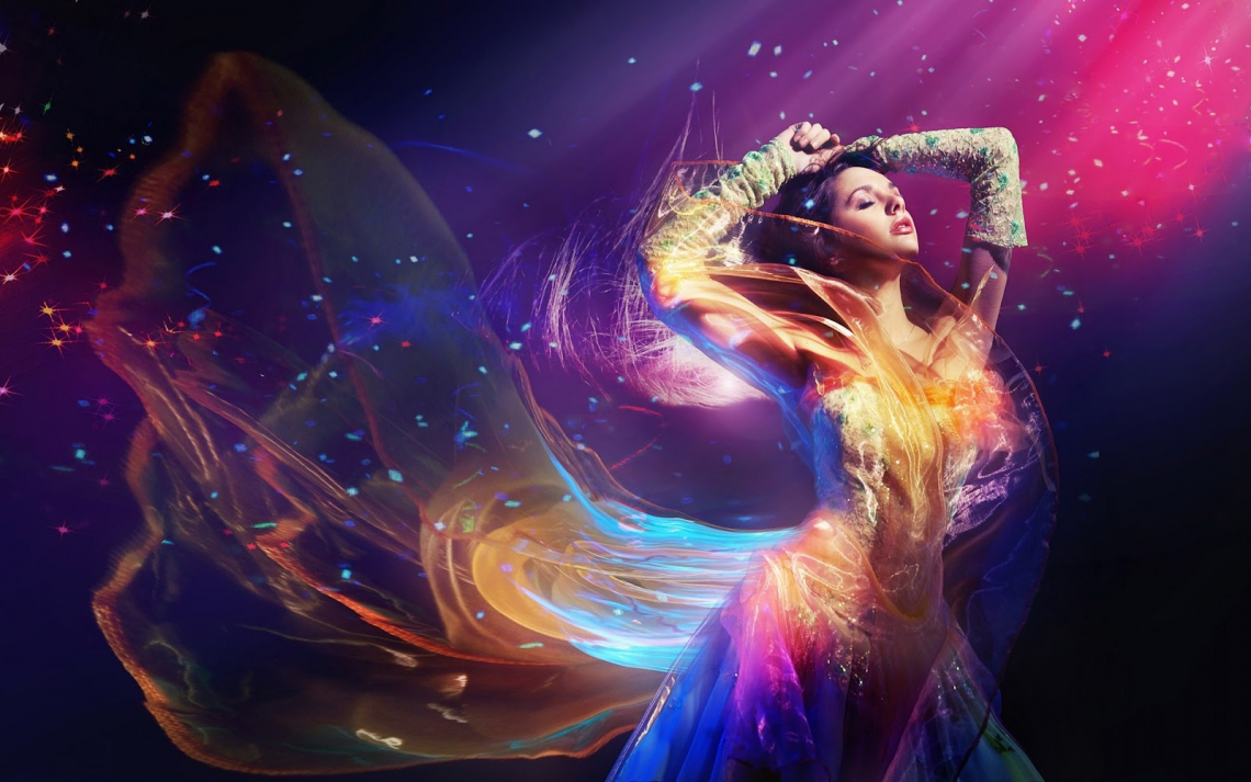 3d hd creative woman dancing