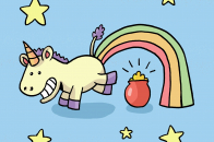 1600x1600 Funny Really Fat Cartoon Unicorn Guppy the unicorn by charli