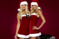 Girls with santa dress