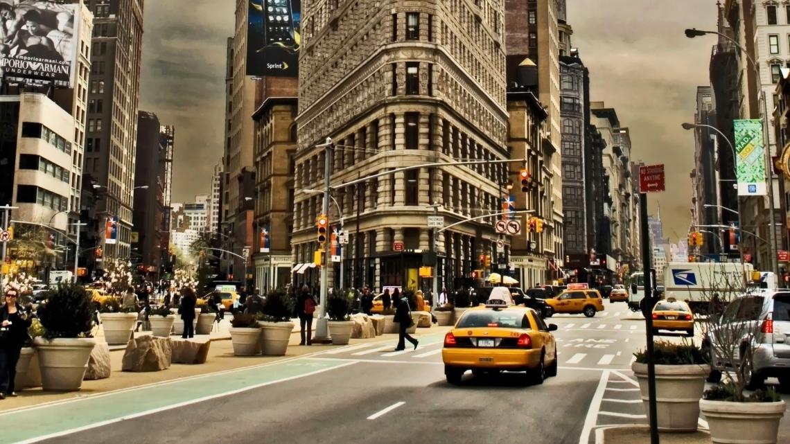 USA Manhattan Street Traffic