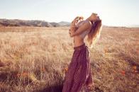 Hippie girl outdoor