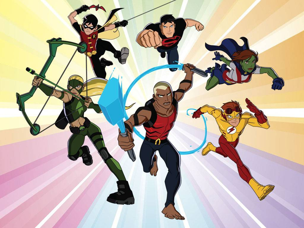 Ready to fight Young Justice team