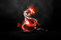 Black and Red Horse Sticker abstract desktop background