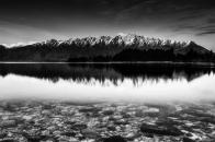 Mountain, ridge, monochrome