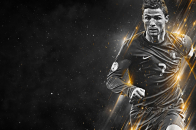 CR7, Black, background