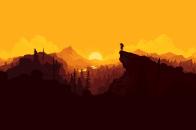 Firewatch flat landscape