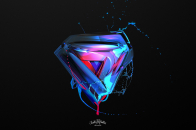 3D triangle abstract shapes 4k Abstract