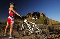 Hot cyclist
